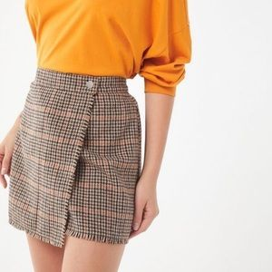 Urban Outfitters Fray Wrap Mini Skirt